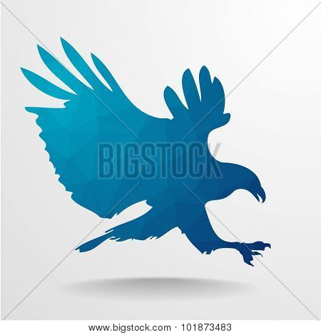 detailed illustration of a polygonal Eagle, eps10 vector