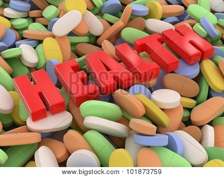 Pills and tablets (clipping path included)