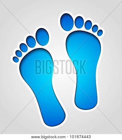 Vector Footprints Illustration
