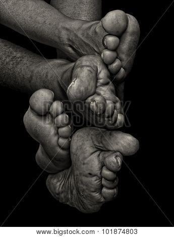 Interesting Image of man and woman feet and Toes collection