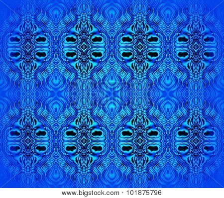 Seamless ellipses pattern blue turquoise