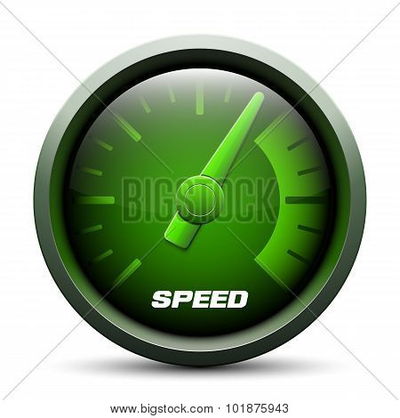 Speedometer Icon, Vector Illustration