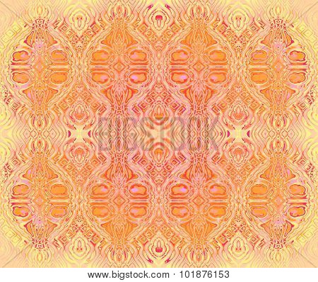 Seamless ellipses pattern yellow orange