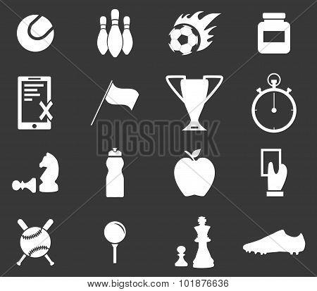 Sport icon set 3, monochrome