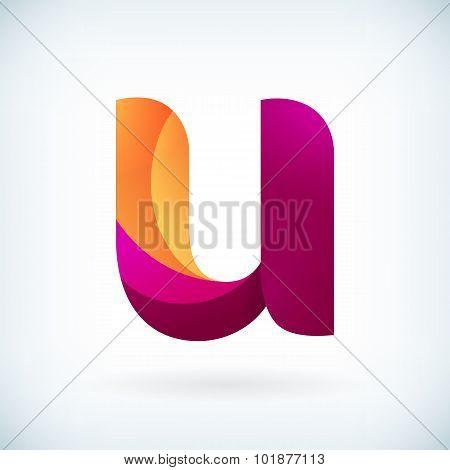 Modern Twisted Letter U