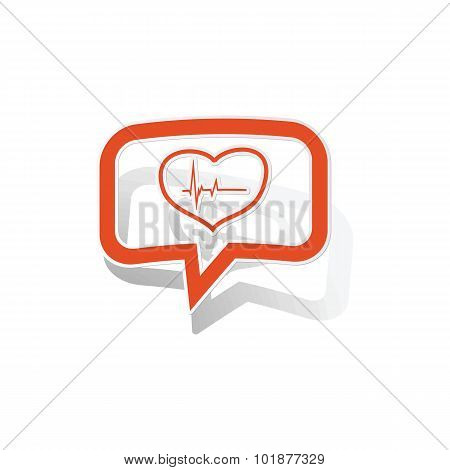 Cardiology message sticker, orange