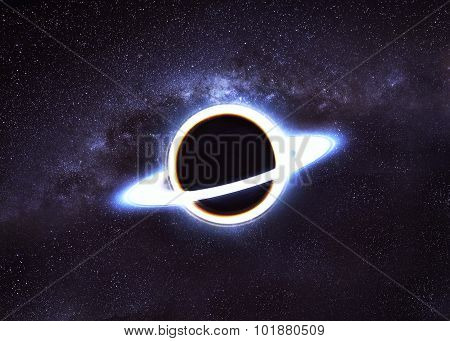 Black hole in space