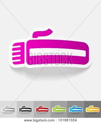 realistic design element. hairclipper
