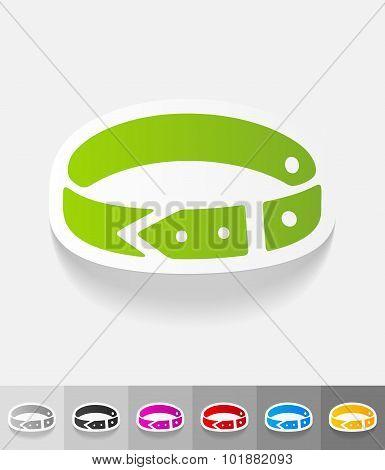 realistic design element. dog-collar