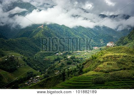 Beautiful Landscape Of Sapa Valley