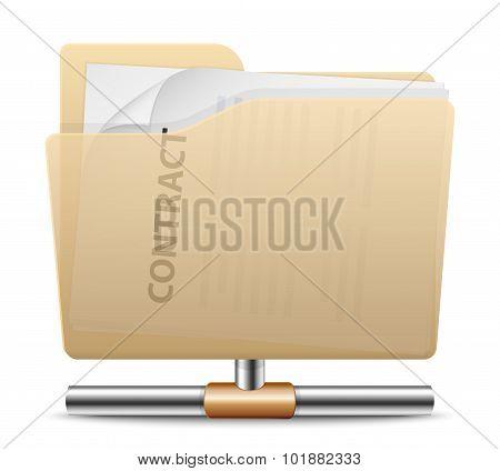 Vector Folder Sharing Icon