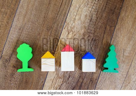 construction of wooden houses