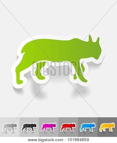 realistic design element. lynx