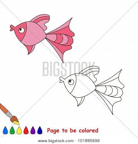 Pink fish. Page to be color.