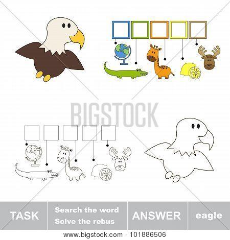 Find hidden word EAGLE.