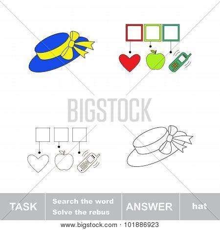 Find hidden word HAT.