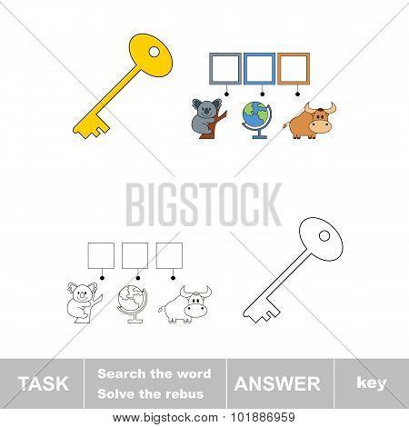 Find hidden word KEY.