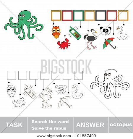 Find hidden word octopus.
