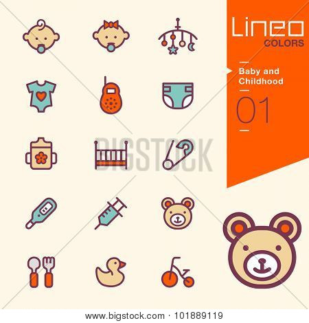 Lineo Colors - Baby and Childhood icons