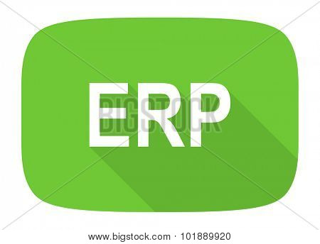 erp flat design modern icon with long shadow for web and mobile app