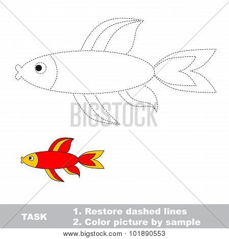 Red fish to be traced.