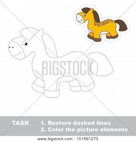 One cartoon toy horse.