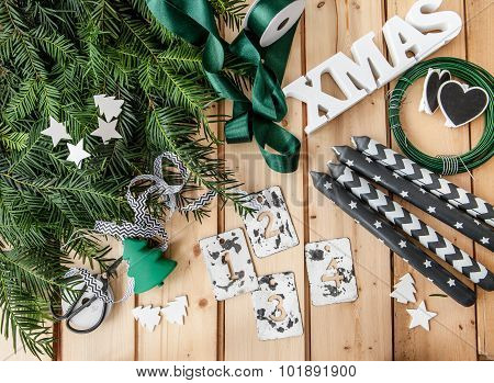 Crafting And Advent Garland