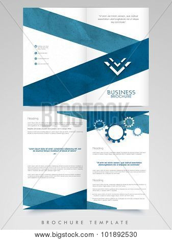 Creative Brochure, Template or Flyer presentation decorated with abstract design for your Business or Corporate Sector.