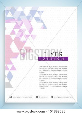 Creative professional flyer, banner or template with abstract design for Business purpose.