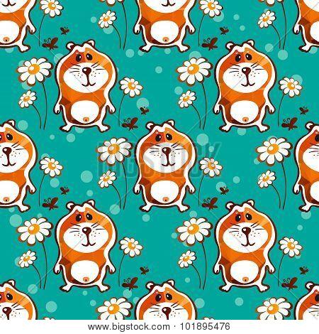 hamster seamless pattern