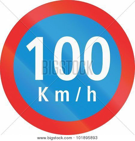 Speed Limit 100 In Mexico
