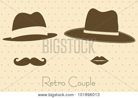Gentleman And Lady In Vintage Style