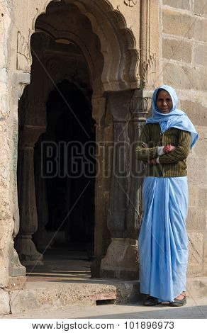 Jaipur, India - December 30, 2014: Unknown Indian People Live In Chand Baori Stepwell, Jaipur