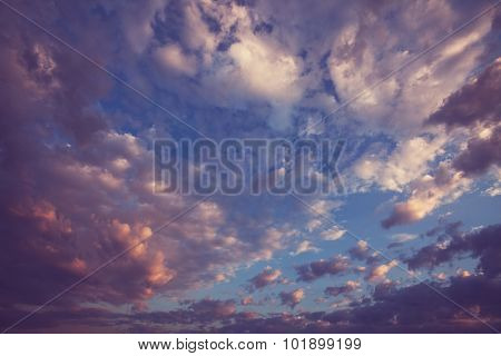 Beautiful sunset cloud and sky