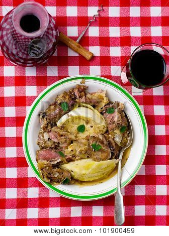 Stewed Lamb With Cabbage