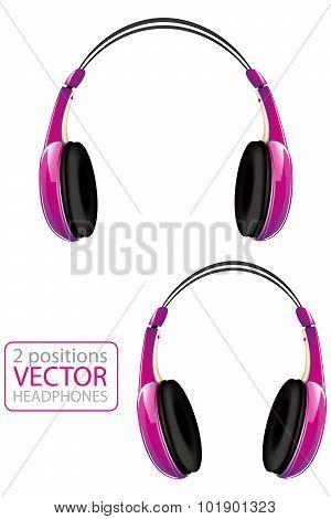 Pink Vector Headphone