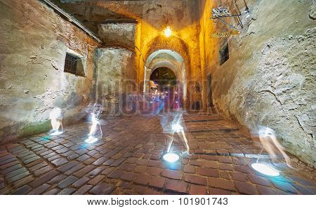 Ghosts In Medieval Citadel