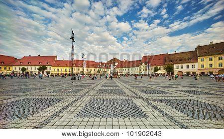 Big Square In Sibiu City