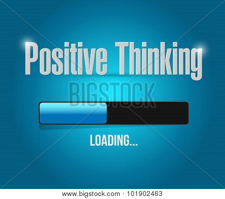 Positive Thinking Loading Bar Sign Concept
