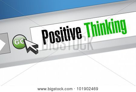 Positive Thinking Web Browser Sign Concept