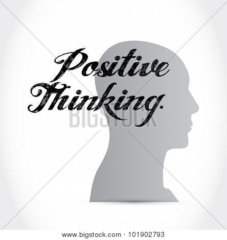 Positive Thinking Mind Sign Concept