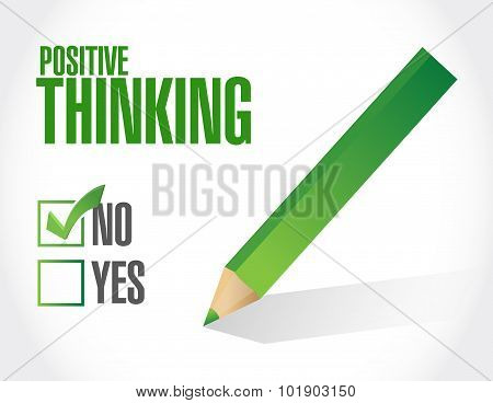 Positive Thinking Negative Selection Sign Concept
