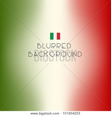 Blurred Color Italy Flag Background. Vector Illustration.