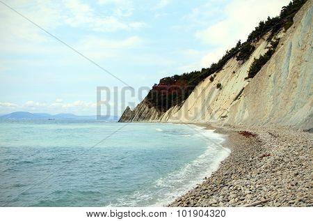 Sea Lagoon near Mountains at beaty day