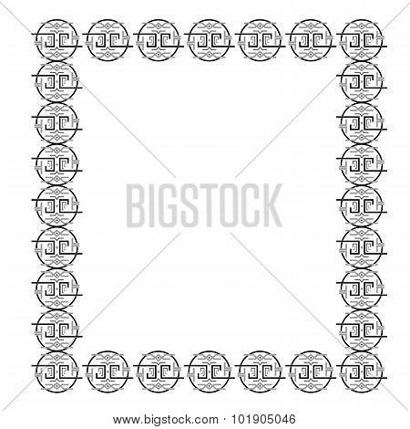 the pattern frame black