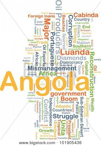 Background concept wordcloud illustration of Angola