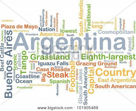 Background concept wordcloud illustration of Argentina