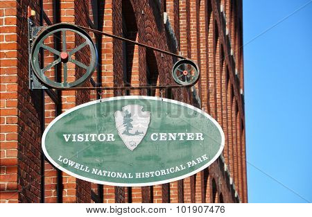 Sign of Lowell National Historical Park