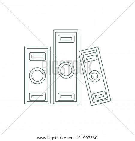Archive Folders Stock Illustration Icon. Flat Design Icon