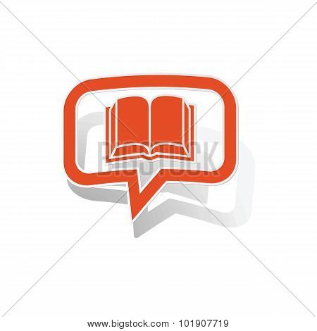 Read message sticker, orange